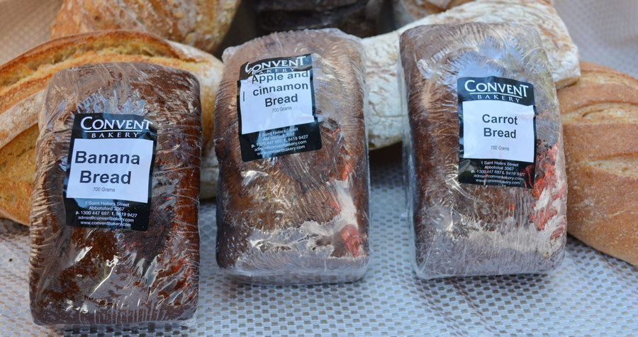 Some of the beautiful specialty breads baked by Convent Bakery, available from Dolphin Distributors.